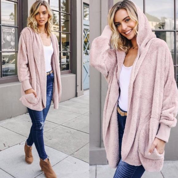 Bellanblue Jackets & Blazers - AUTUMN WONDERS Softest Hoodie- MAUVE